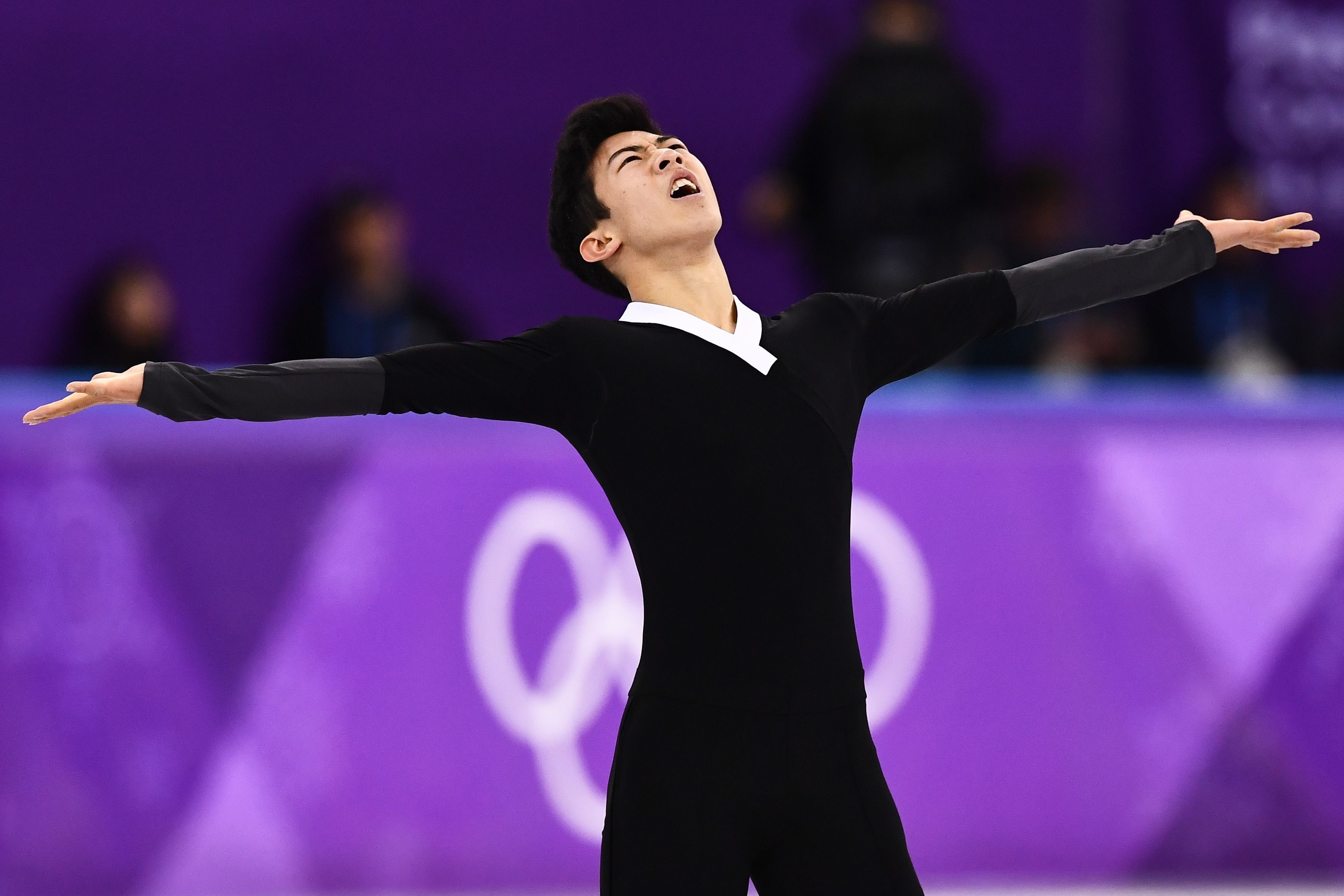 Nathan Chen competes in the men's single free skate Saturday in Pyeongchang, South Korea.