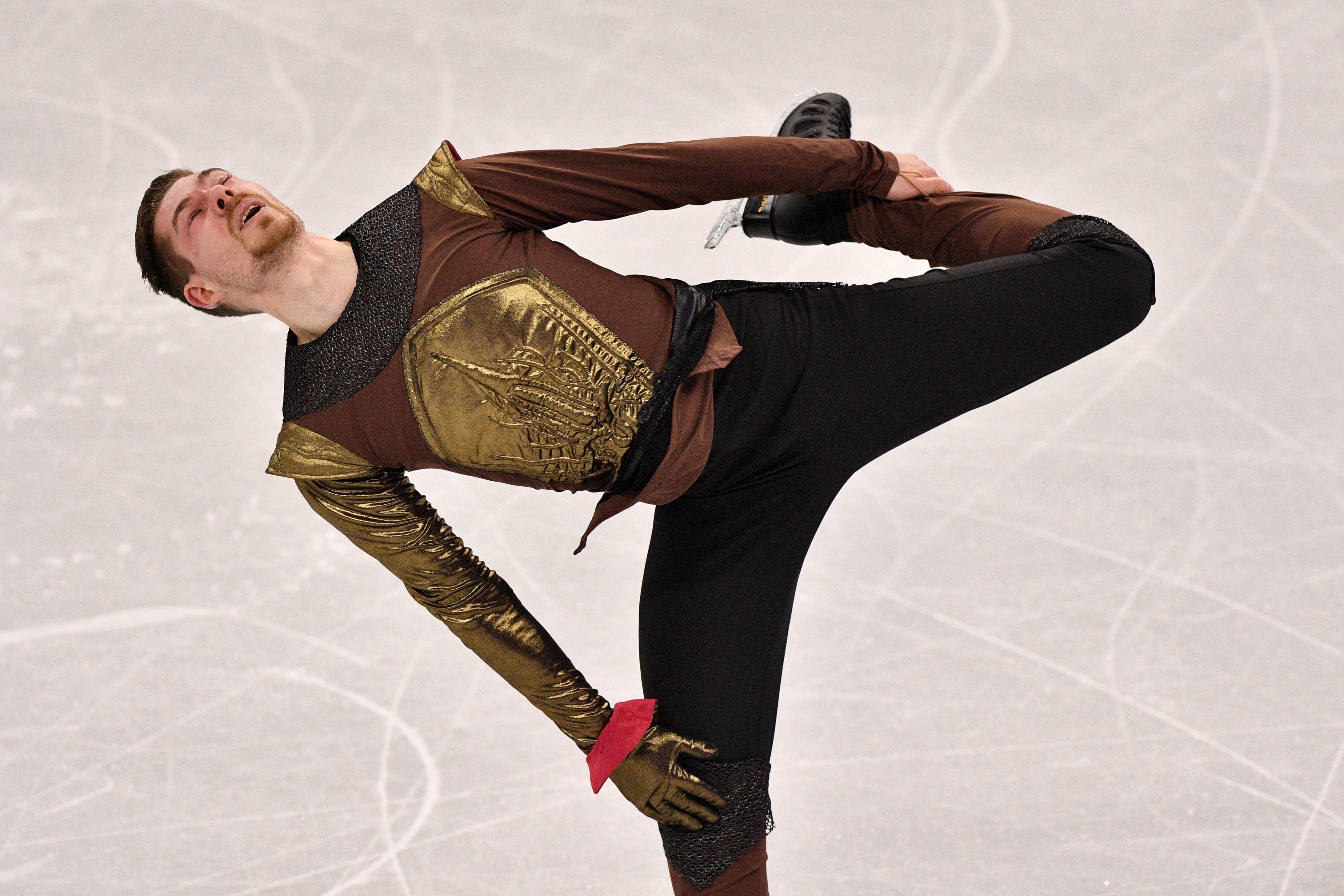 "Germany's Paul Fentz performed to music from ""Game of Thrones"" for his free skating routine."