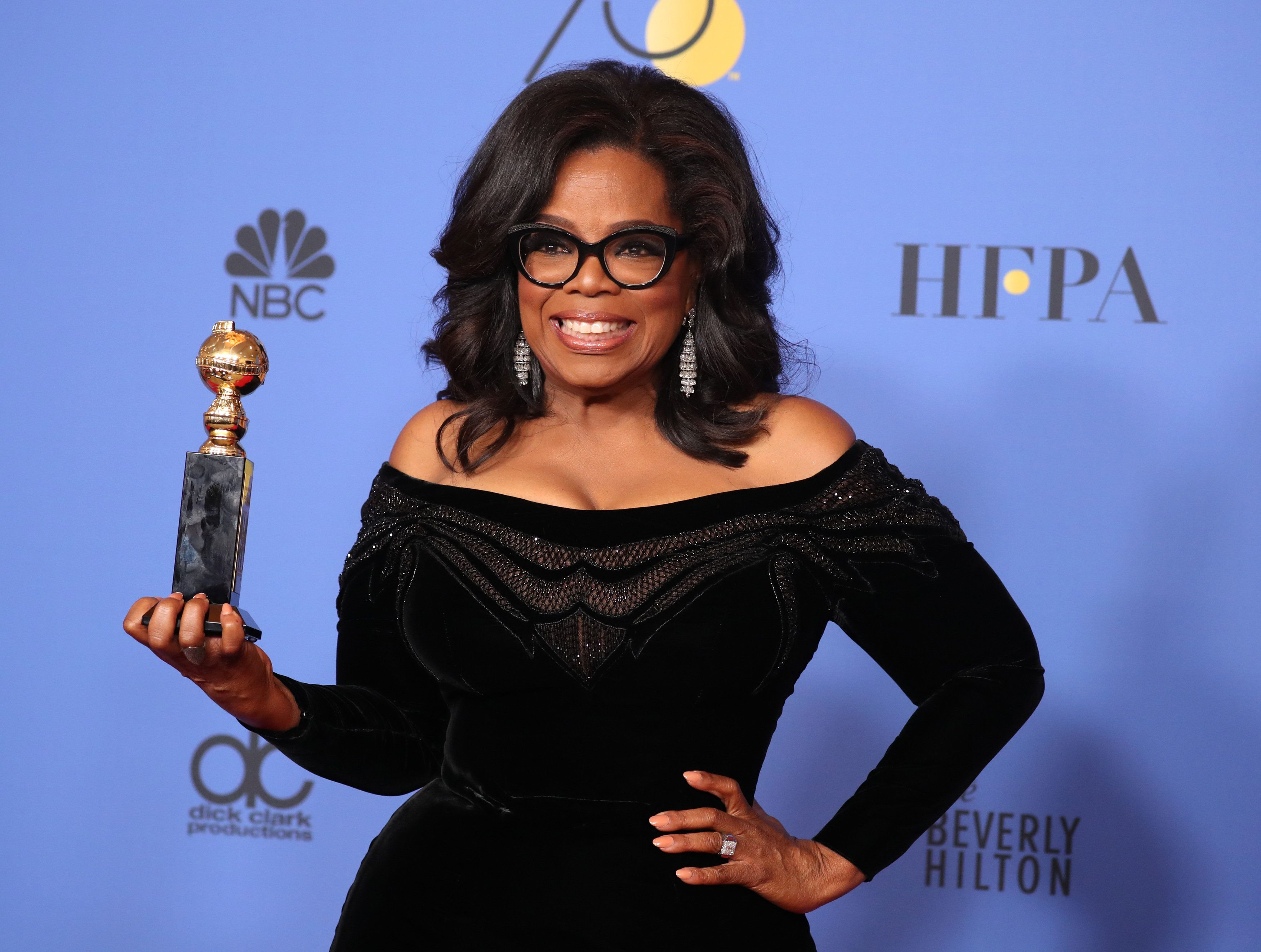 <strong>Daniel met Oprah at the Golden Globes </strong>