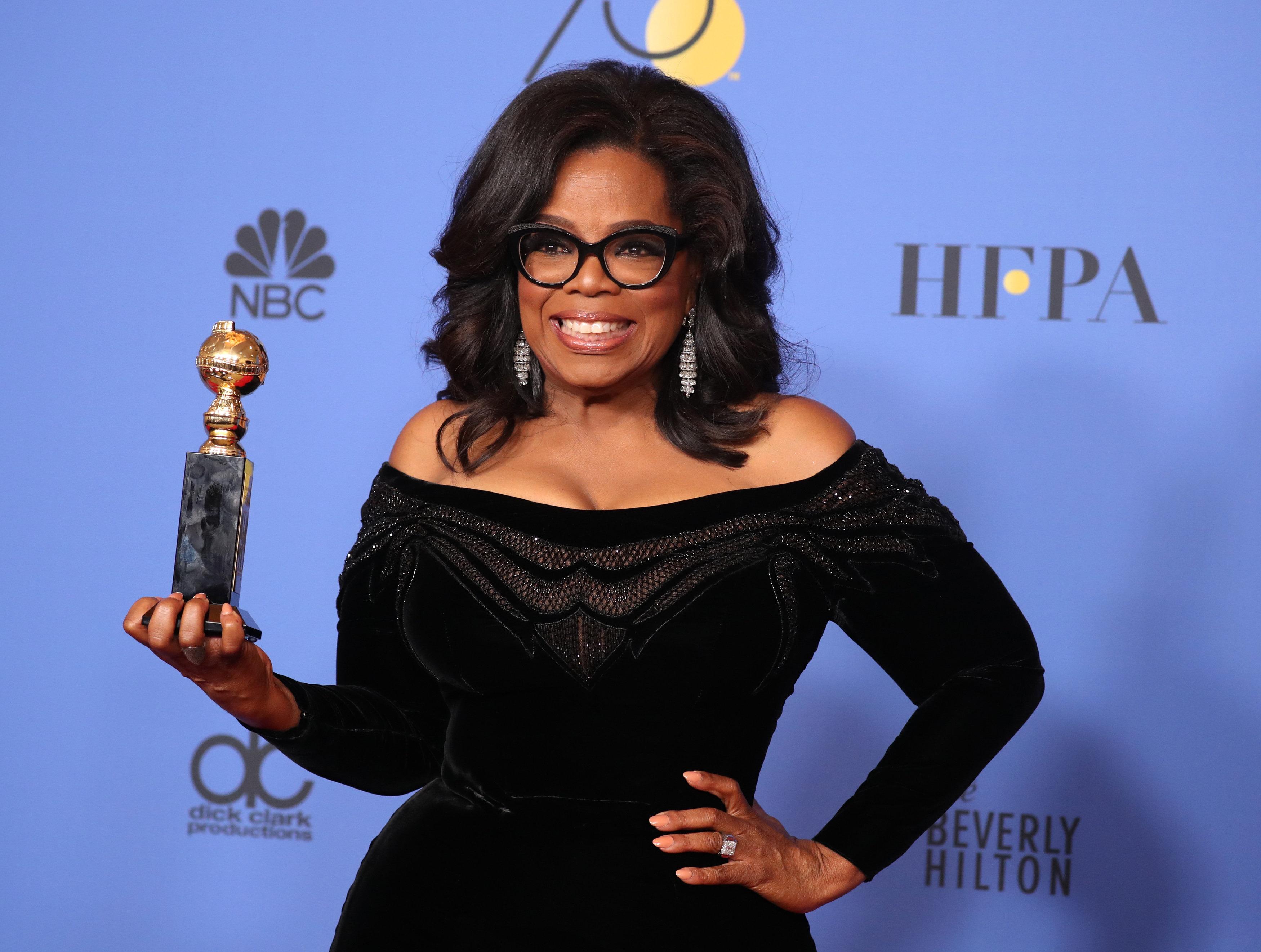 <strong>Daniel met Oprah at the Golden Globes</strong>