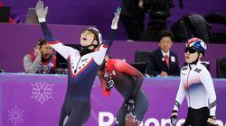 임효준과 서이라가 쇼트트랙 1000m 결승에서