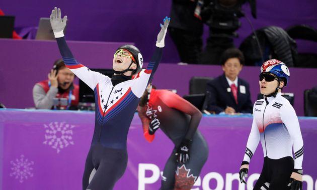 넘어진 서이라, 남자 쇼트트랙 1000m 동메달...임효준