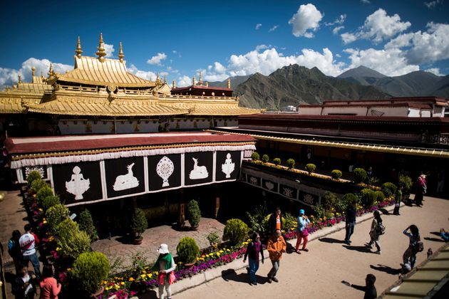 The Jokhang temple in Lhasa is one of Tibetan Buddhism's most hallowed