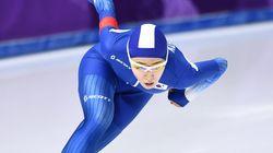 이상화가 여자 500m에서 은메달을