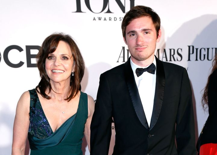 Actress Sally Field is seen with her son, Sam Greisman, in 2013.