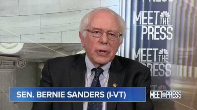 Sen. Bernie Sanders (I-Vt.) appeared on NBC's