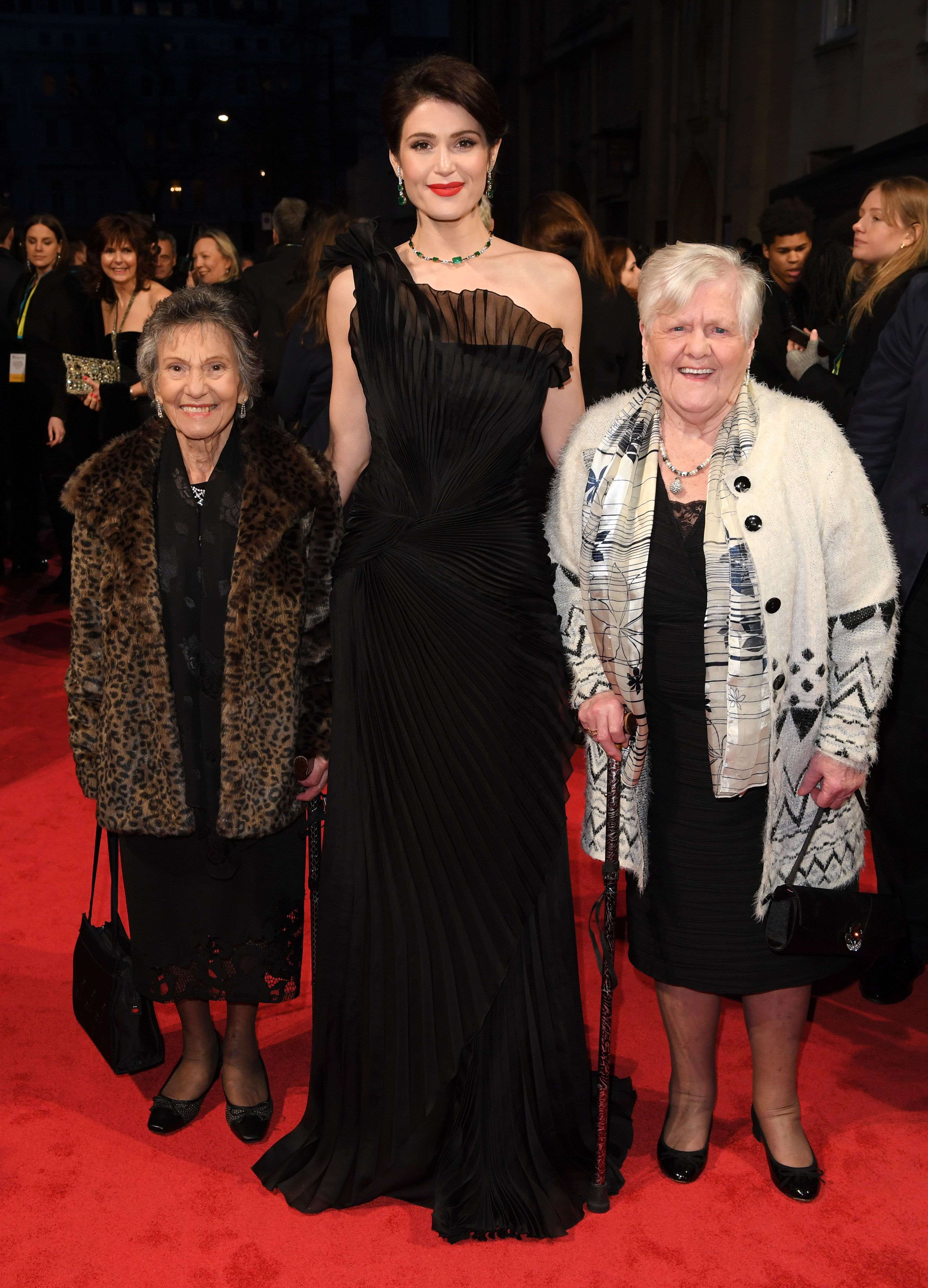 Gemma Arterton Attends The Baftas With 'Original Dagenham Girls' Gwen Davis And Eileen