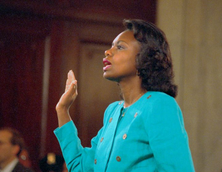 During Thomas' 1991 confirmation hearing, former employee Anita Hill accused him of sexually harassing her.
