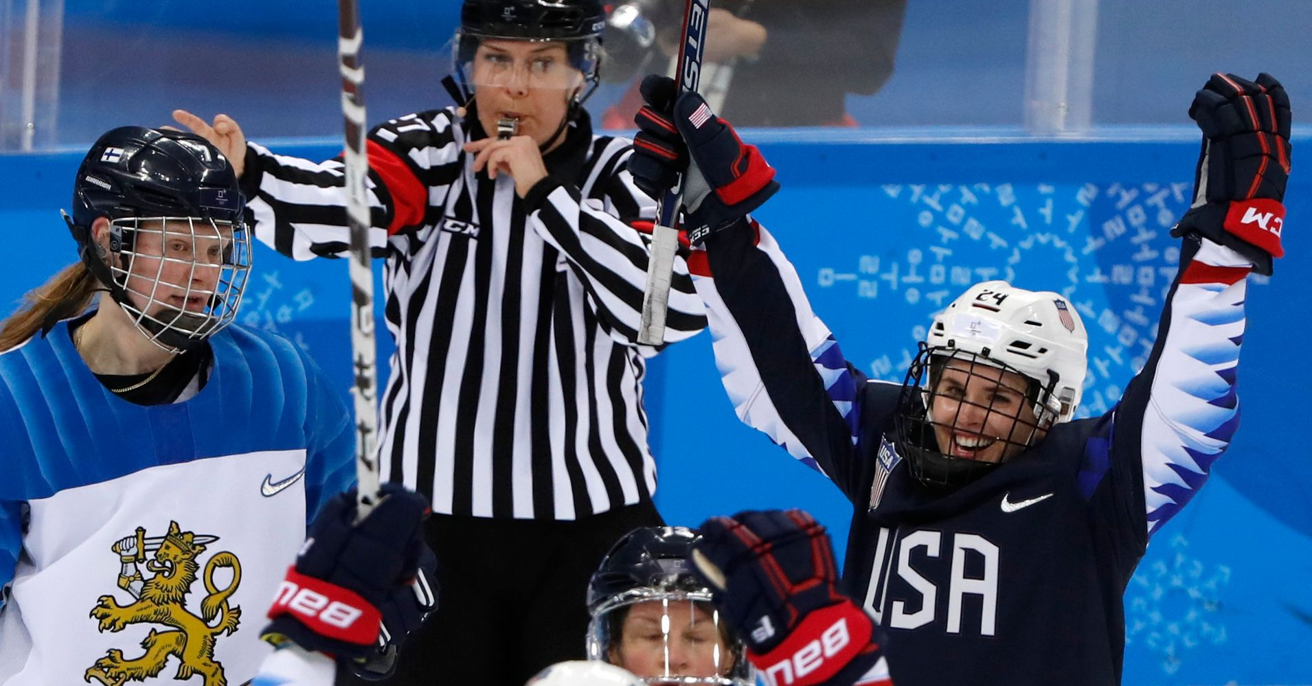 U.S. Women's Ice Hockey Team Crushes Finland, Heads To Olympic Finals