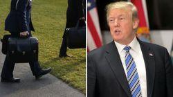 Trump besucht China – plötzlich kommt es zum Gerangel um den Atomkoffer