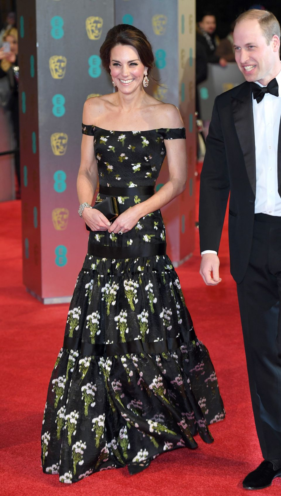 Duchess of Cambridge attends the Bafta awards at the Royal Albert Hall on 12 February
