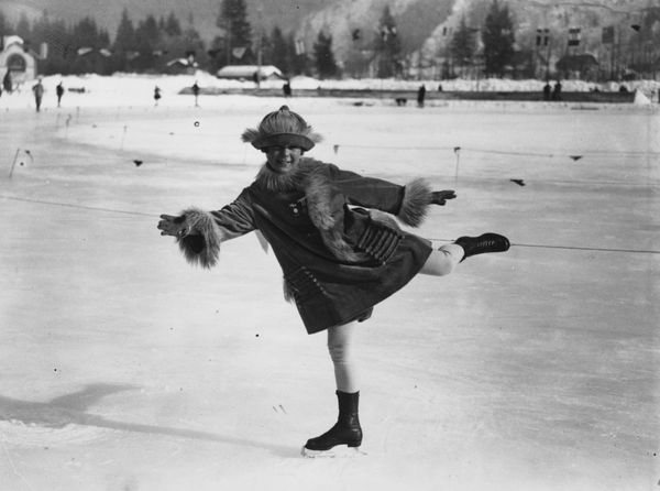 """The Norwegian skater onthe ice at Chamonix during the Winter Olympics in 1924 when <a href=""""https://www.olympic.org/son"""
