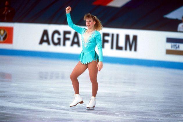 Tonya on the ice at the 1991 World