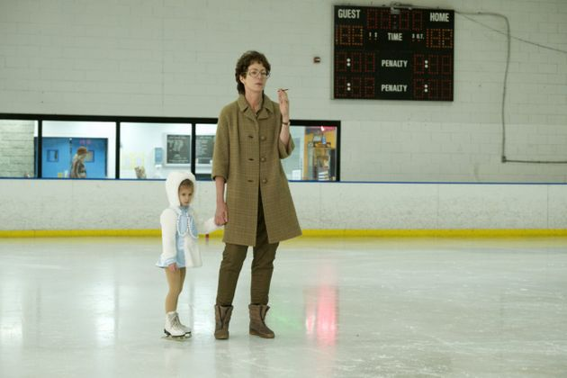 The film shows LaVona taking Tonya to the rink at a very young