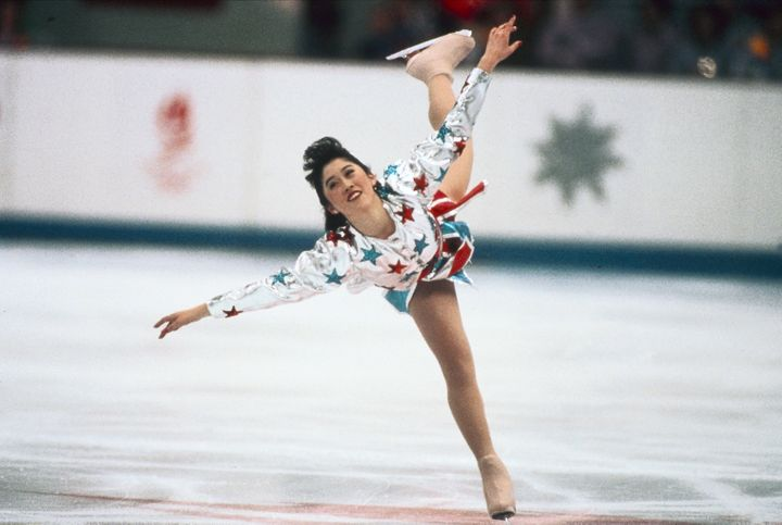 Kristi Yamaguchi during an exhibition skate at the 1992 Olympics, where she won the gold medal in the ladies singles event.