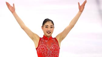 GANGNEUNG, SOUTH KOREA - FEBRUARY 12: Mirai Nagasu of the United States of America celebrates after competing in the Figure Skating Team Event Ladie's Single Free Skating on day three of the PyeongChang 2018 Winter Olympic Games at Gangneung Ice Arena on February 12, 2018 in Gangneung, South Korea. (Photo by Maddie Meyer/Getty Images)
