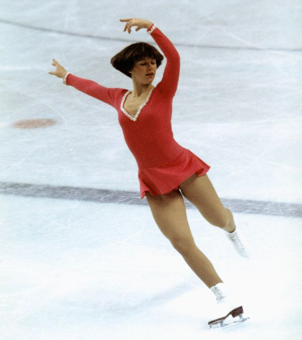 The American skaterduring the Winter Olympics skating competition in 1976 in Innsbruck, Austria. Hamillwon the go