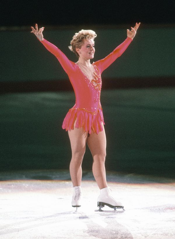 The Canadian athlete competing in a figure skating competition in the1988Winter Olympics.