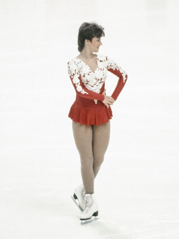 Dubravcic, representing Yugoslavia, skatingher long programduring the Winter Olympics on Feb. 18, 1984, in Saraje