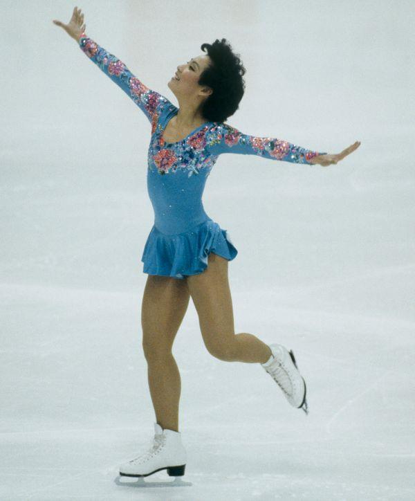 Chin, of the U.S., performingat the 1984 Winter Olympics in Sarajevo, Yugoslavia.