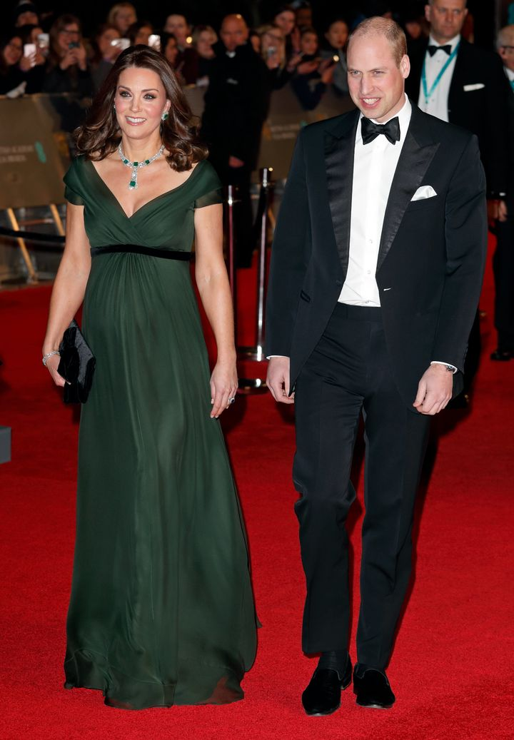 The Duke and Duchess of Cambridge at Royal Albert Hall on Feb. 18.