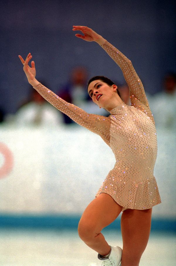 Kerrigan, of the U.S., performing at the 1994 Olympic Games in Lillehammer, Norway, where she won the silver medal.