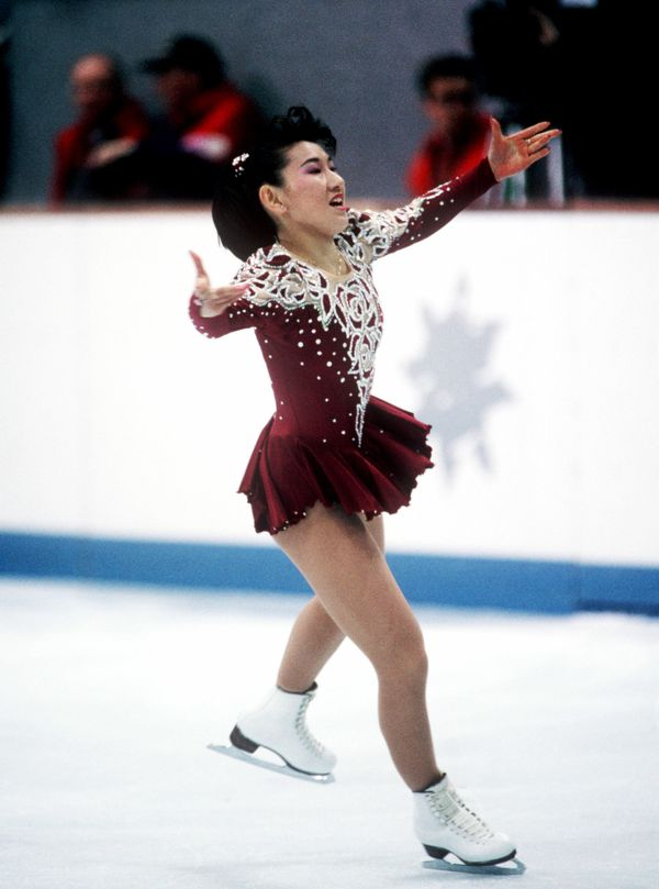 Ito, of Japan, performing at the 1992 Olympic Games in Albertville, France.