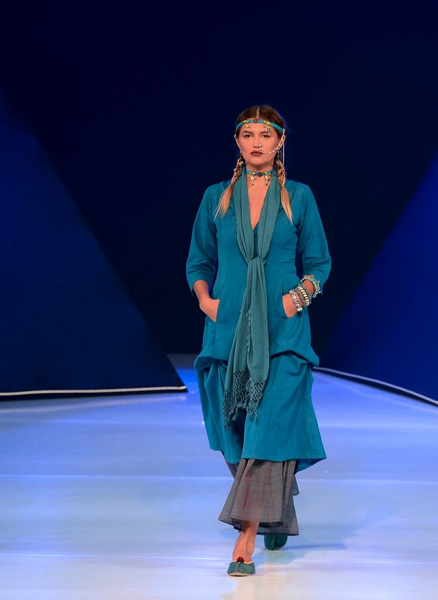 Bibi Russell designed a vibrant collection for Columbo Fashion Week in March