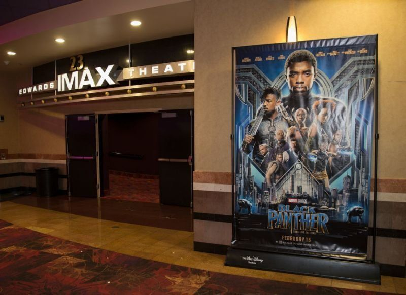 A screening of the movie Black Panther.