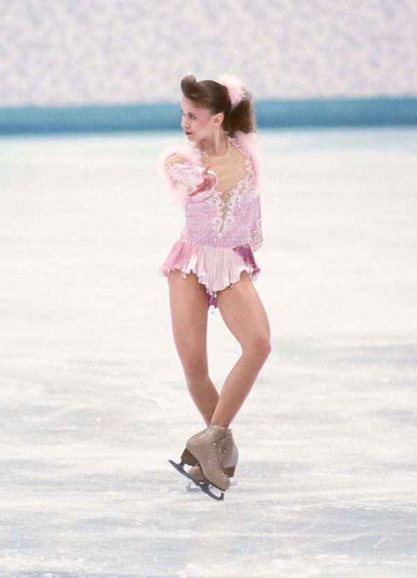 The Ukrainian athlete competingin the free skate portion of theladies singles event at the 1994 Winter Olympic Ga