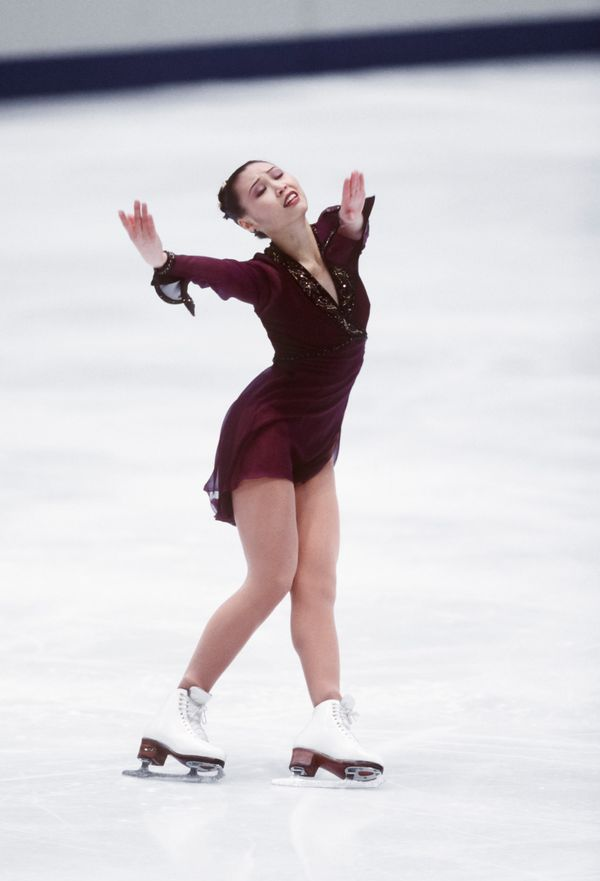 Skatingher free program in the ladies singles event of the figure skating competition in the 1998 Winter Olympics held