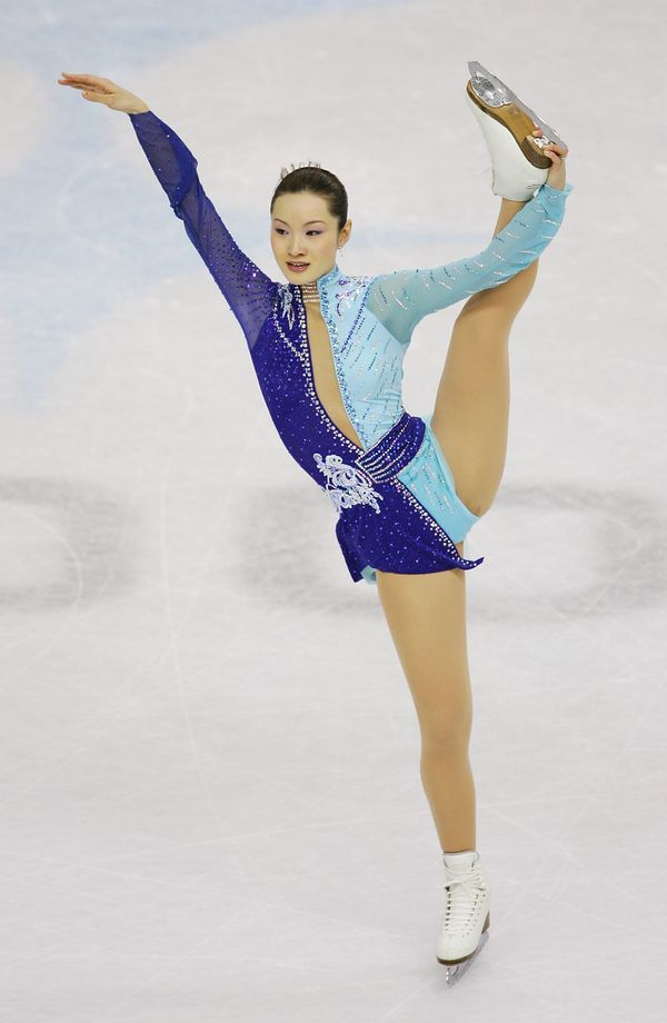 Arakawa, of Japan, performingduring the free skating program of the ladies singles event during the2006 Winter Ol
