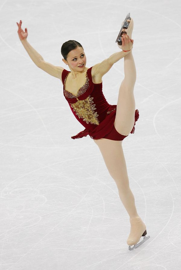 The American skater performingduring the women's free skating program at the 2006 Winter Olympic Games on Feb. 23, 2006