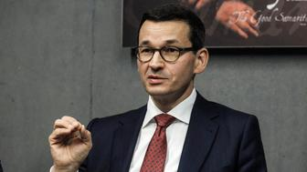 Poland's Prime Minister Mateusz Morawiecki visits the Ulma Family Museum of Poles Who Saved Jews during WWII in Markowa, Poland February 2, 2018. Agencja Gazeta/Patryk Ogorzalek via REUTERS ATTENTION EDITORS - THIS IMAGE WAS PROVIDED BY A THIRD PARTY. POLAND OUT. NO COMMERCIAL OR EDITORIAL SALES IN POLAND.