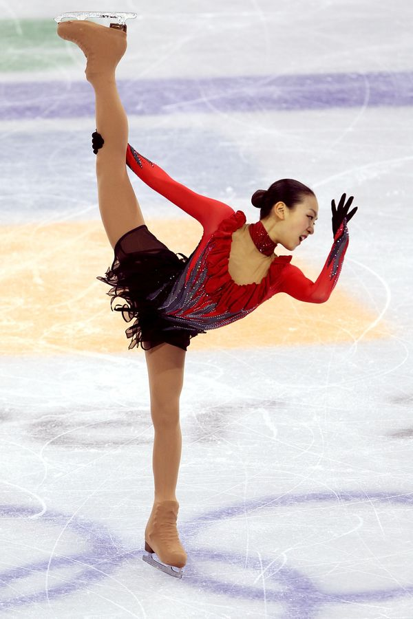 The Japanese skater competingduring the2010 Winter Olympics at Pacific Coliseum on Feb. 25, 2010, in Vancouver, C
