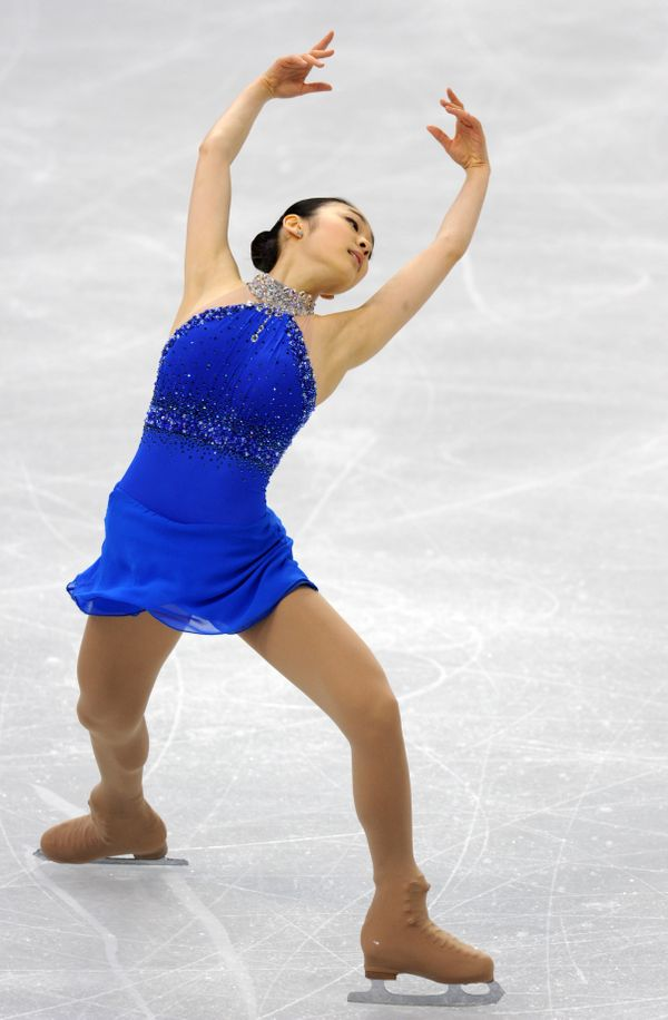South Korea's Yuna Kim performs in the Ladies' Free skating program at the Pacific Coliseum in Vancouver, during the 2010 Win