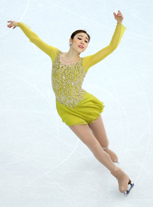 The South Korean skater competing at the 2014 Winter Olympics at Iceberg Skating Palace on Feb. 19, 2014, in Sochi, Russia.