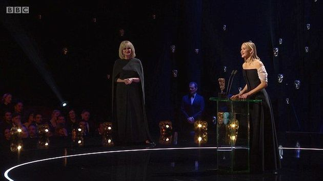 Jennifer Lawrence Reveals The 'Inside Joke' Behind Her Joanna Lumley Baftas