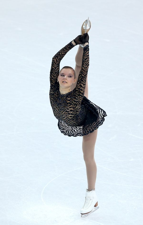 The Ukrainian skater performing during the 2014 Winter Olympics at Iceberg Skating Palace on Feb. 8, 2014, in Sochi, Russia.
