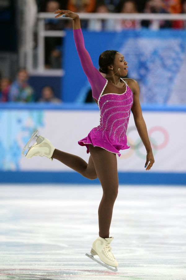 Meite, of France,competing at the Iceberg Skating Palace during the 2014 Sochi Winter Olympics on Feb. 8, 2014.