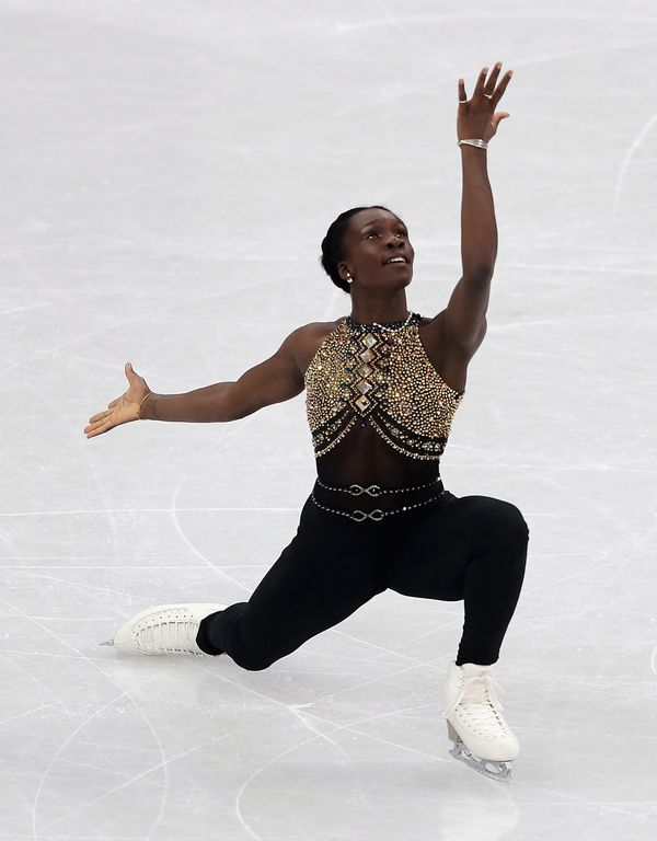 Competingin thefigure skating team eventat the2018 Winter Olympics at Gangneung Ice Arena on Feb. 11,