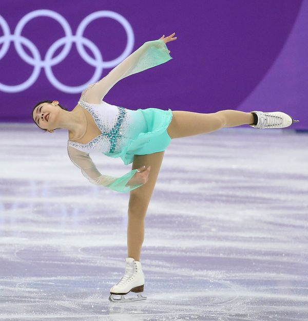 The South Korean skater competingin thefigure skating team eventduring the 2018 Winter Olympics.