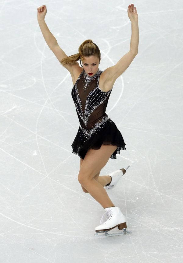 The American skater competingat the 2014 Winter Olympics at Iceberg Skating Palace on Feb. 8, 2014, in Sochi, Russia.