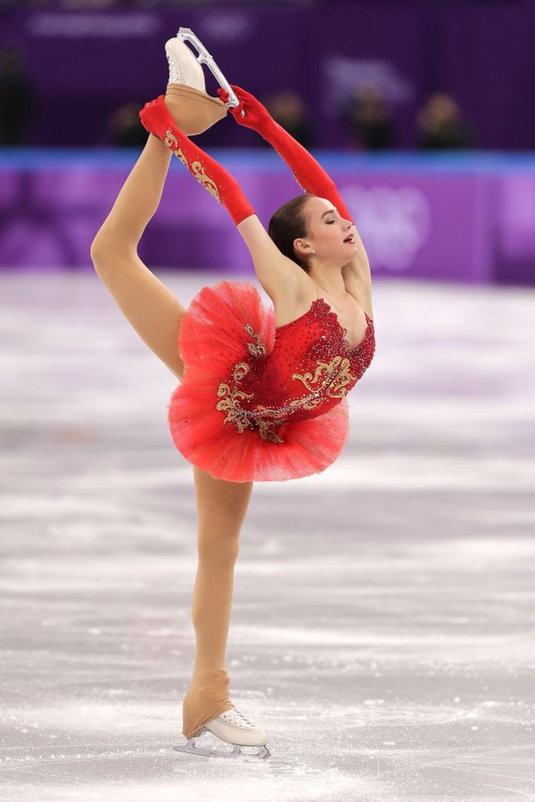 The Russian skater competing in the figure skating team eventduring the Pyeongchang 2018 Winter Olympics at Gangneung I