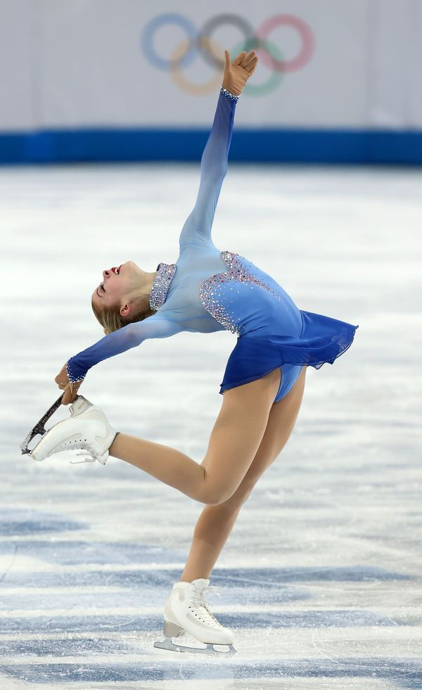 The American skater performingher free skating program during theladies singlesevent at the2014 Olymp