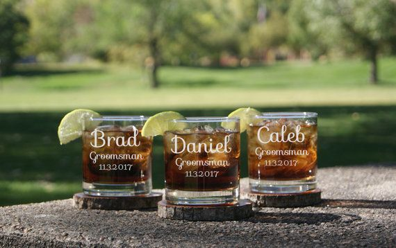 "Get them <a href=""https://www.etsy.com/listing/470279680/personalized-whiskey-glasses-groomsmen?ga_order=most_relevant&ga"