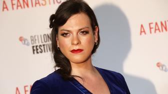 "Actor Daniela Vega arrives for the UK premiere of ""A Fantastic Woman"" during the British Film Festival in London, Britain October 6, 2017.  REUTERS/Luke MacGregor"