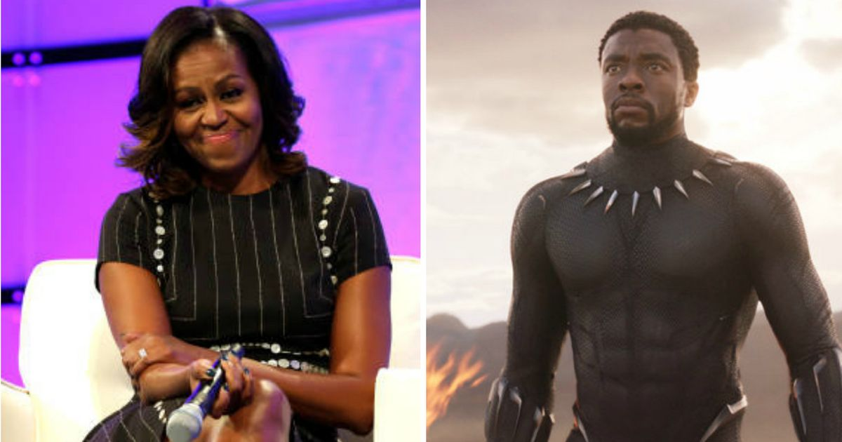 Michelle Obama Hails 'Black Panther' For Inspiring 'People Of All Backgrounds'