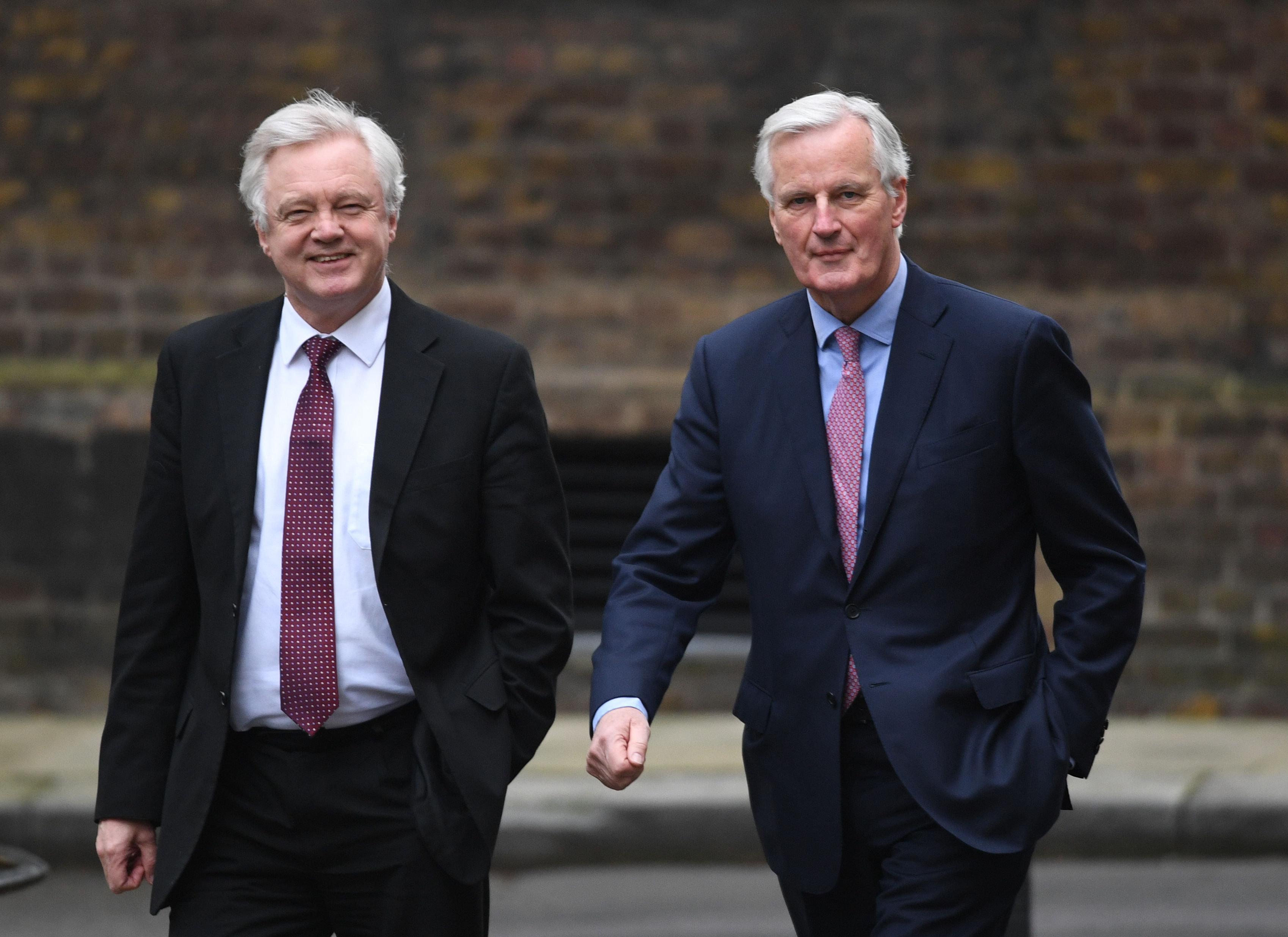 David Davis and EU negotiator Michel Barnier