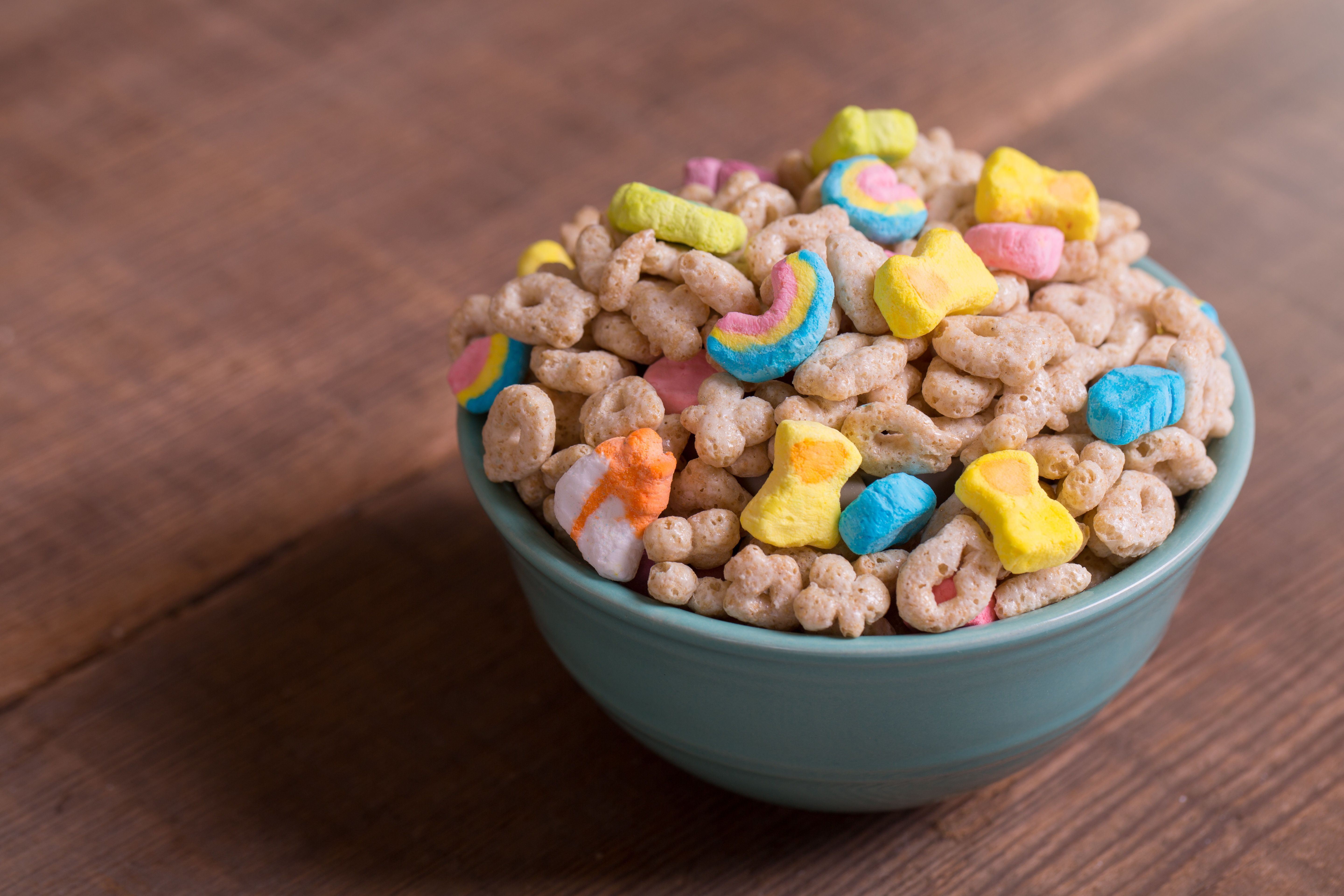 Lucky Charms before the new marshmallow rides in.